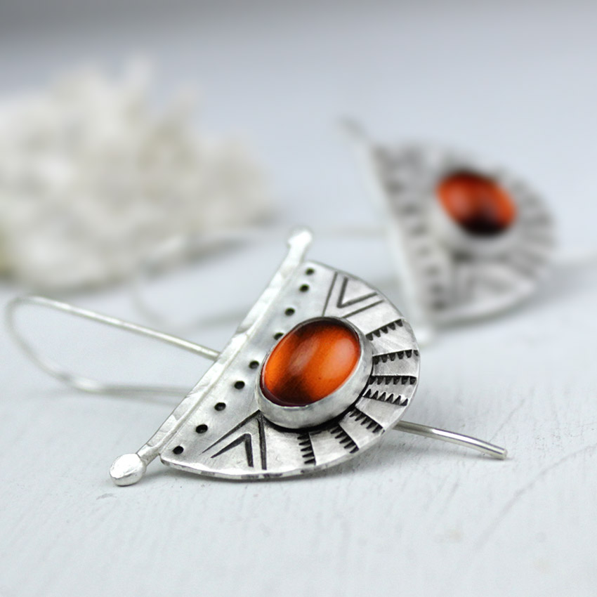 amber crescent earrings 4
