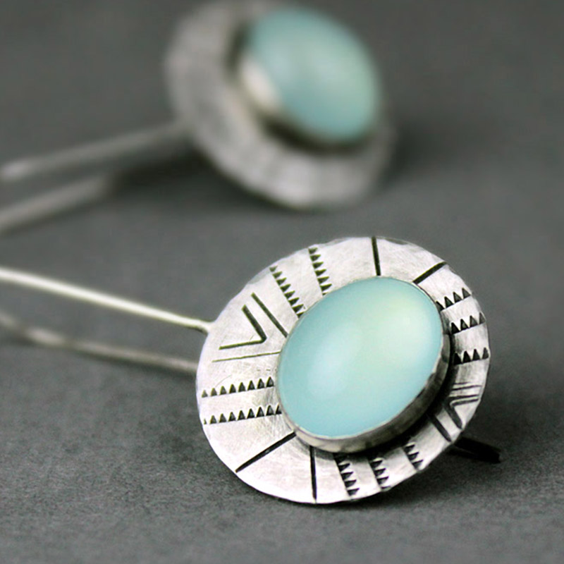 aqua chalcedony earrings 4b