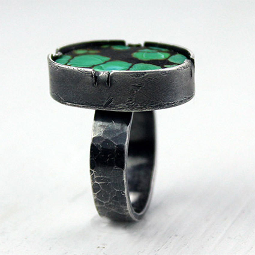 g-turquoise ring blackened