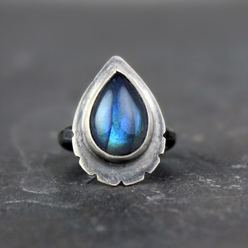 teardrop labradorite ring 4b